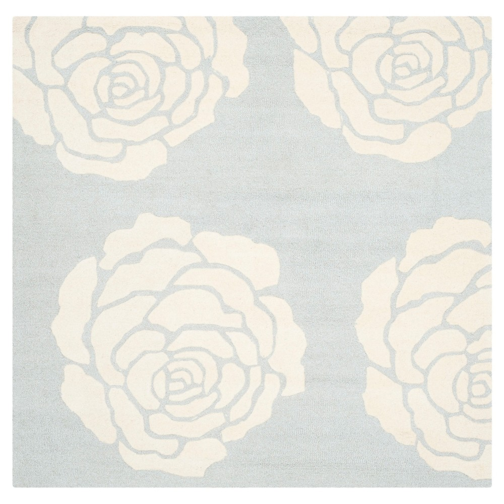 Safavieh Connor Area Rug - Grey / Ivory ( 6' X 6' ), Gray/Ivory