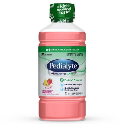 Pedialyte AdvancedCare Electrolyte Solution - Strawberry Lemonade - 33.8 fl oz