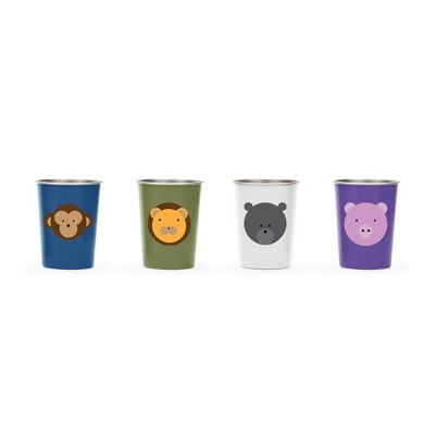 Red Rover 10oz 4pk Stainless Steel Kids' Animal Tumblers