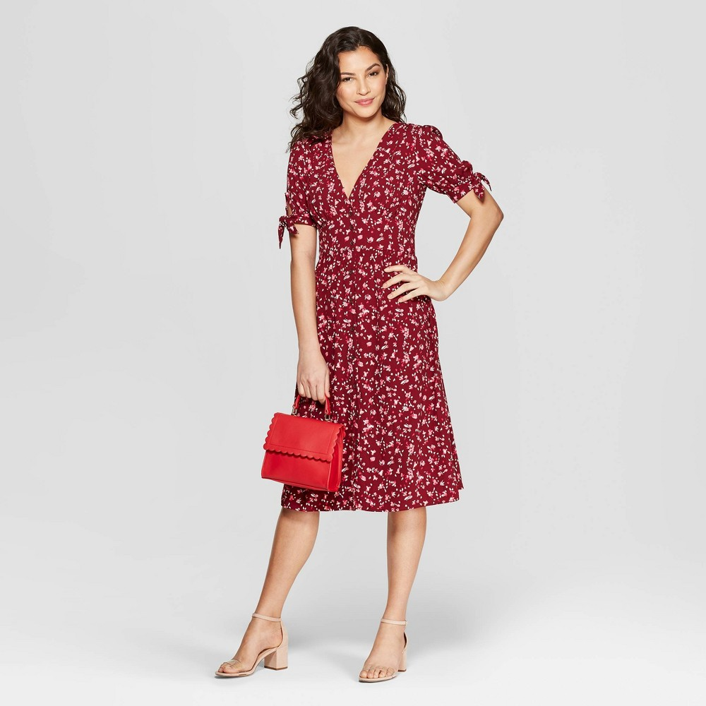 876c146912 ... $27.99 The Floral Print Short Sleeve Crepe Dress from A New Day updates  your wardrobe with fresh, sweet style. You'll love this floral crepe dress,  ...