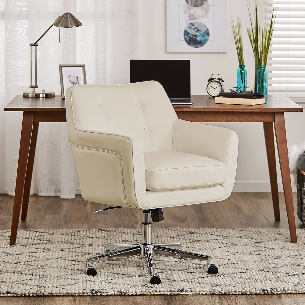 Image of Style Ashland Home Office Chair Sweet Cream - Serta, Ivory