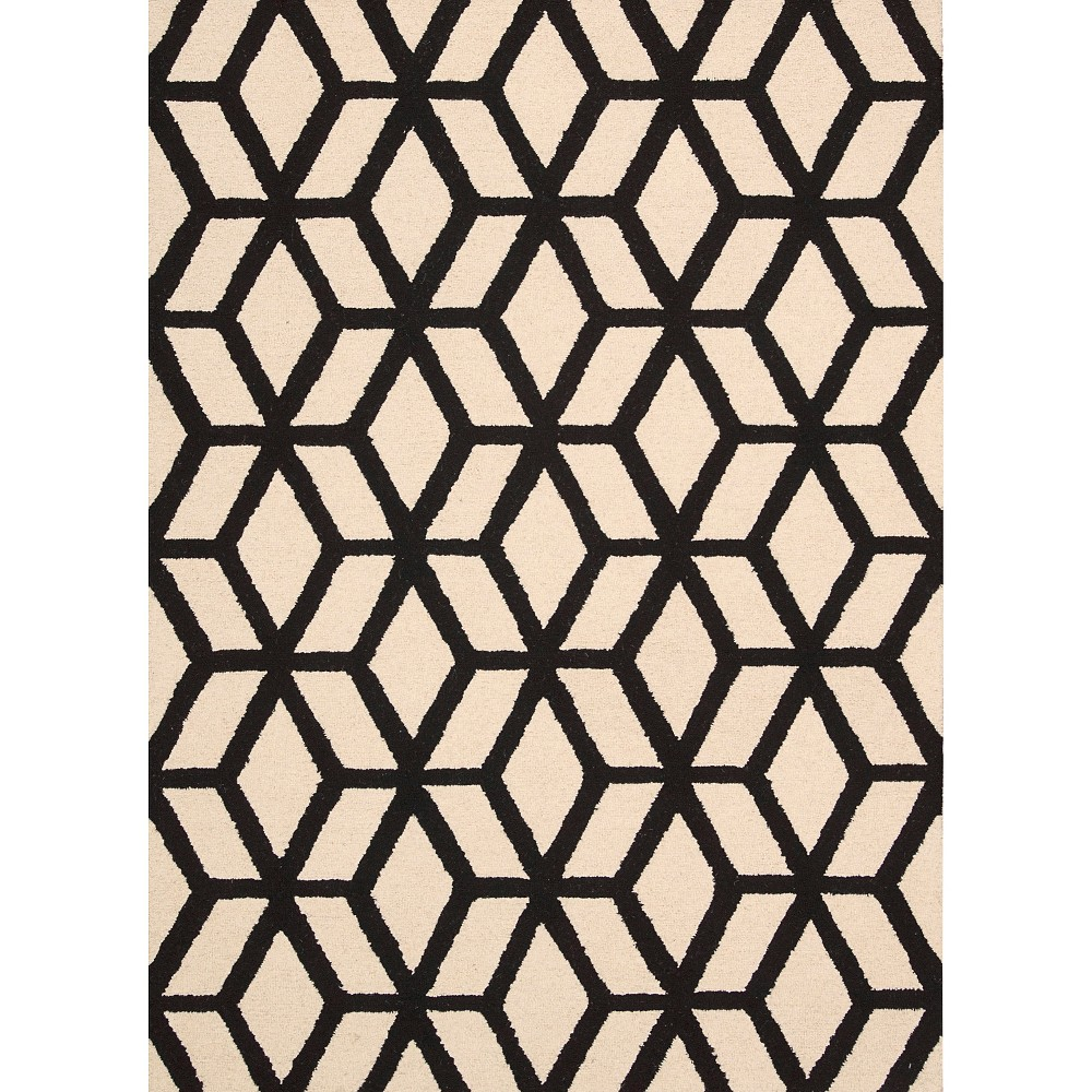 Image of Nourison Kinetic Linear Area Rug - Ivory/Black (5'X7')