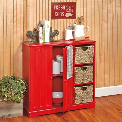 Lakeside Beadboard Buffet Cabinet - Sideboard with Storage