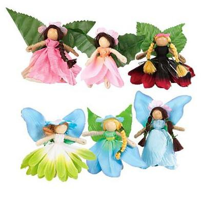 Magic Cabin - Fairy Dolls - Take-Along Posable Pocket Fairies for Kids, Set of 6