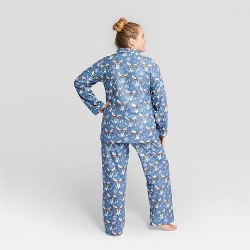 58b590240aaa Nite Nite Munki Munki Women s Holiday Moose Notch Collar Pajama Set ...
