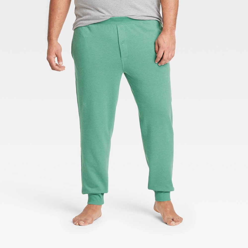 Men 39 S Big 38 Tall Regular Fit Knit Jogger Pajama Pants Goodfellow 38 Co 8482 Green 3xb