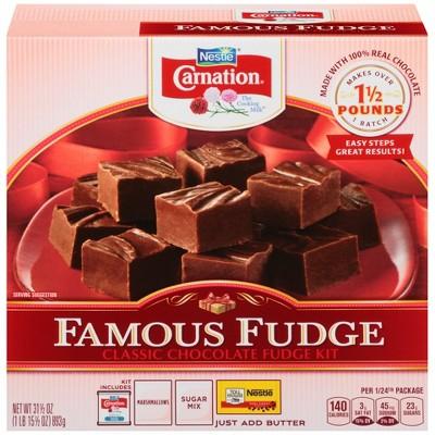 Carnation Famous Fudge Classic Chocolate Fudge Kit 31 5oz Target