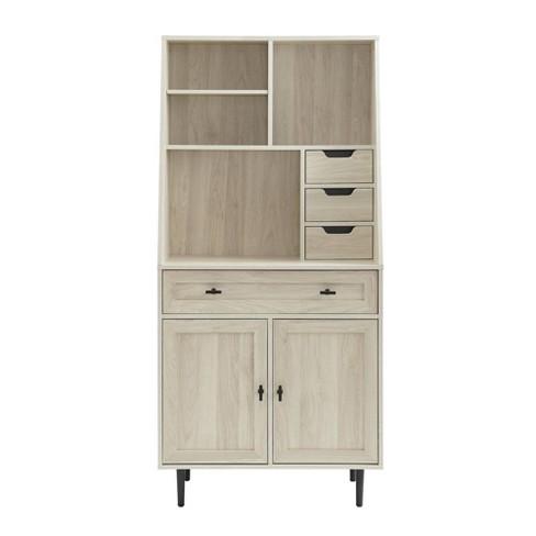 "64"" Storage Desk & Hutch with Keyboard Drawer - Saracina Home - image 1 of 4"