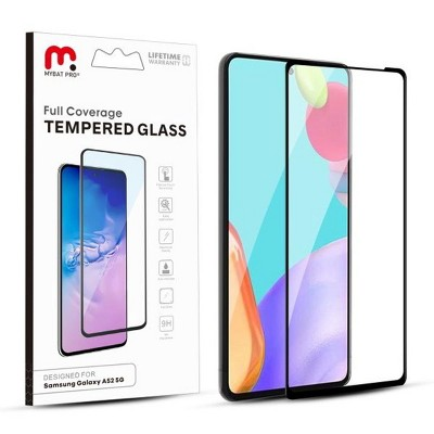 MyBat Pro Full Coverage Tempered Glass Screen Protector Compatible With Samsung Galaxy A52 5G - Black