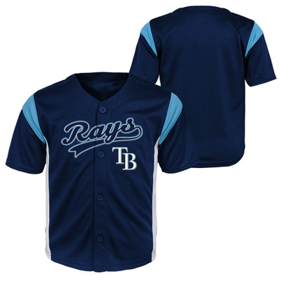 Tampa Bay Rays Baby Boys' Short Sleeve Button-Down Jersey - 12 M