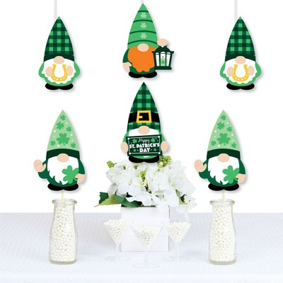 Big Dot of Happiness Irish Gnomes - Decorations DIY St. Patrick's Day Party Essentials - Set of 20