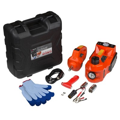Wagan 3 in 1 Electric Jack Impact Wrench and Air Compressor Kit