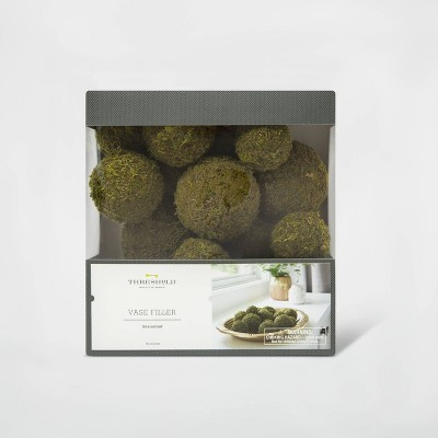 16pc Unscented Moss Foam Ball Vase Filler Green - Threshold™