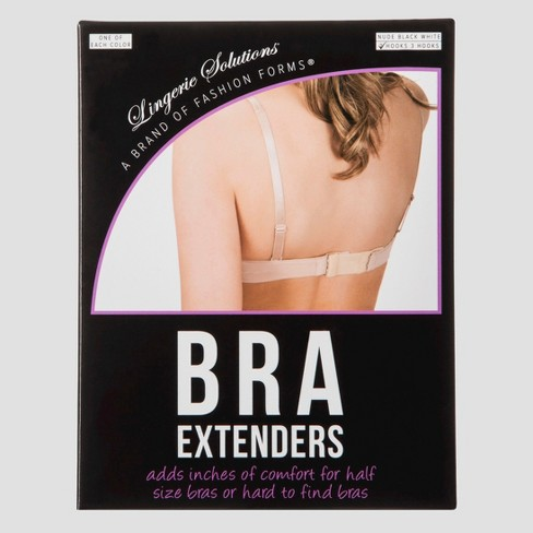 Fashion Forms Women's 2 Hook Bra Extender  - 3 Pack - image 1 of 2