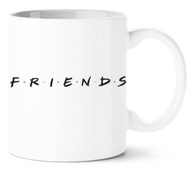 Friends 20oz Ceramic Logo Mug White