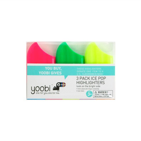 3ct Ice Pop Highlighters - Yoobi™ - image 1 of 3