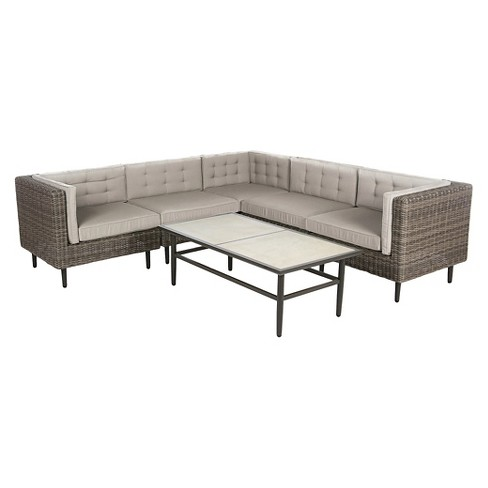 Aimee 6pc Sectional with Sunbrella Fabric - image 1 of 3
