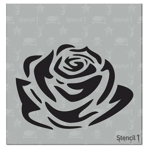 stencil1 tattoo rose stencil 5 75 x 6 target