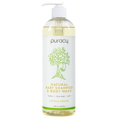 Puracy Natural Baby Shampoo & Body Wash, Tear-Free, Sulfate-Free, Citrus Grove - 16oz