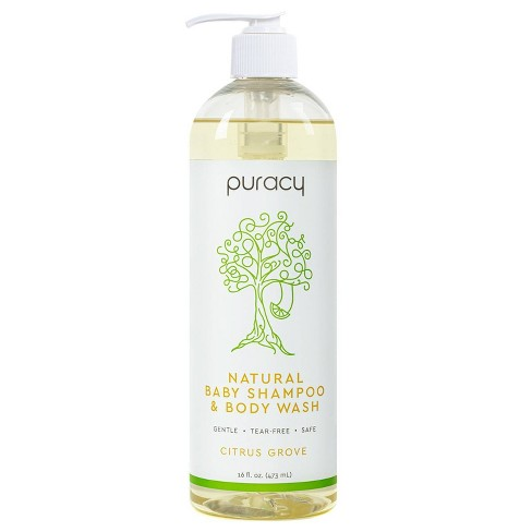 Puracy Natural Baby Shampoo & Body Wash, Tear-Free, Sulfate-Free, Citrus Grove - 16oz - image 1 of 4