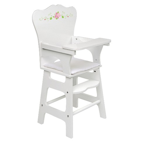 Badger Basket White Rose Doll High Chair - image 1 of 3