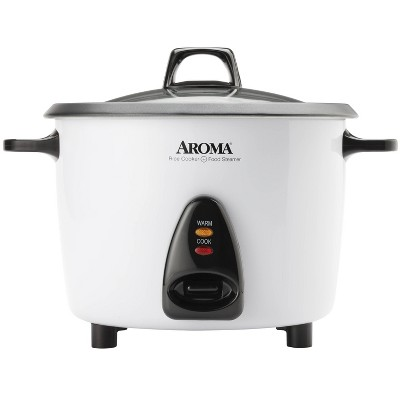 Aroma 20-Cup Pot-Style Rice Cooker and Food Steamer - White