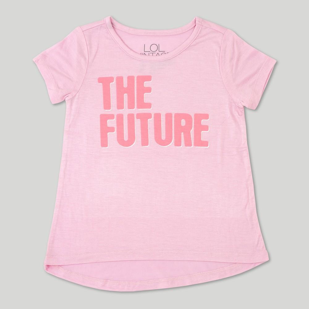 Toddler Girls' L.O.L. Vintage Short Sleeve T-Shirt The Future - Light Pink - 3T