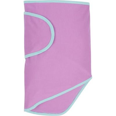 Miracle Blanket Swaddle Wrap Trim Purple/Mint