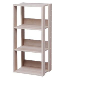IRIS Medium Open Wood Rack Shelf Natural