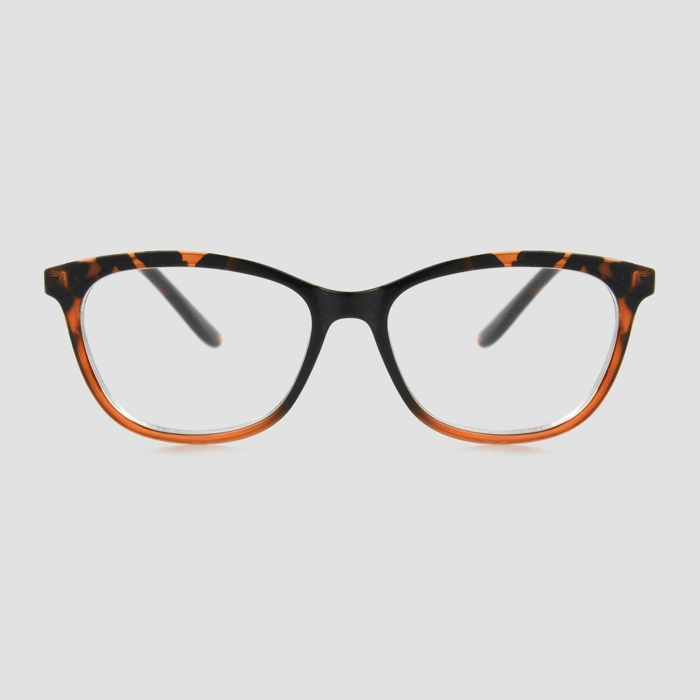 Reviews Women' Tortoie hell Butterfly Blue Light Filtering Glae - A New Day™ Black/Brown