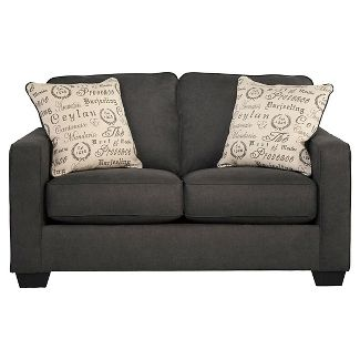Alenya Loveseat - Charcoal - Signature Design by Ashley