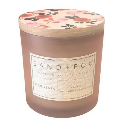 25oz Gardenia Scented 3-Wick Candle - Sand + Fog