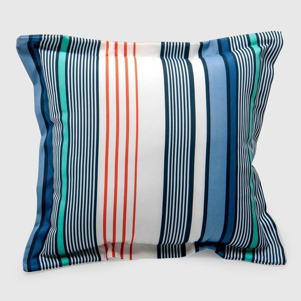 Multi-Stripe Outdoor Deep Seat Pillow Back Cushion Seaside - Threshold