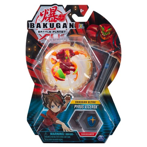 """Bakugan Ultra Pyrus Vicerox 3"""" Collectible Action Figure and Trading Card - image 1 of 4"""