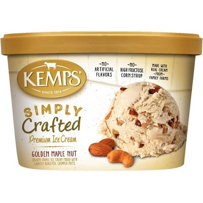 Kemps Simply Crafted Golden Maple Nut Ice Cream -  48oz