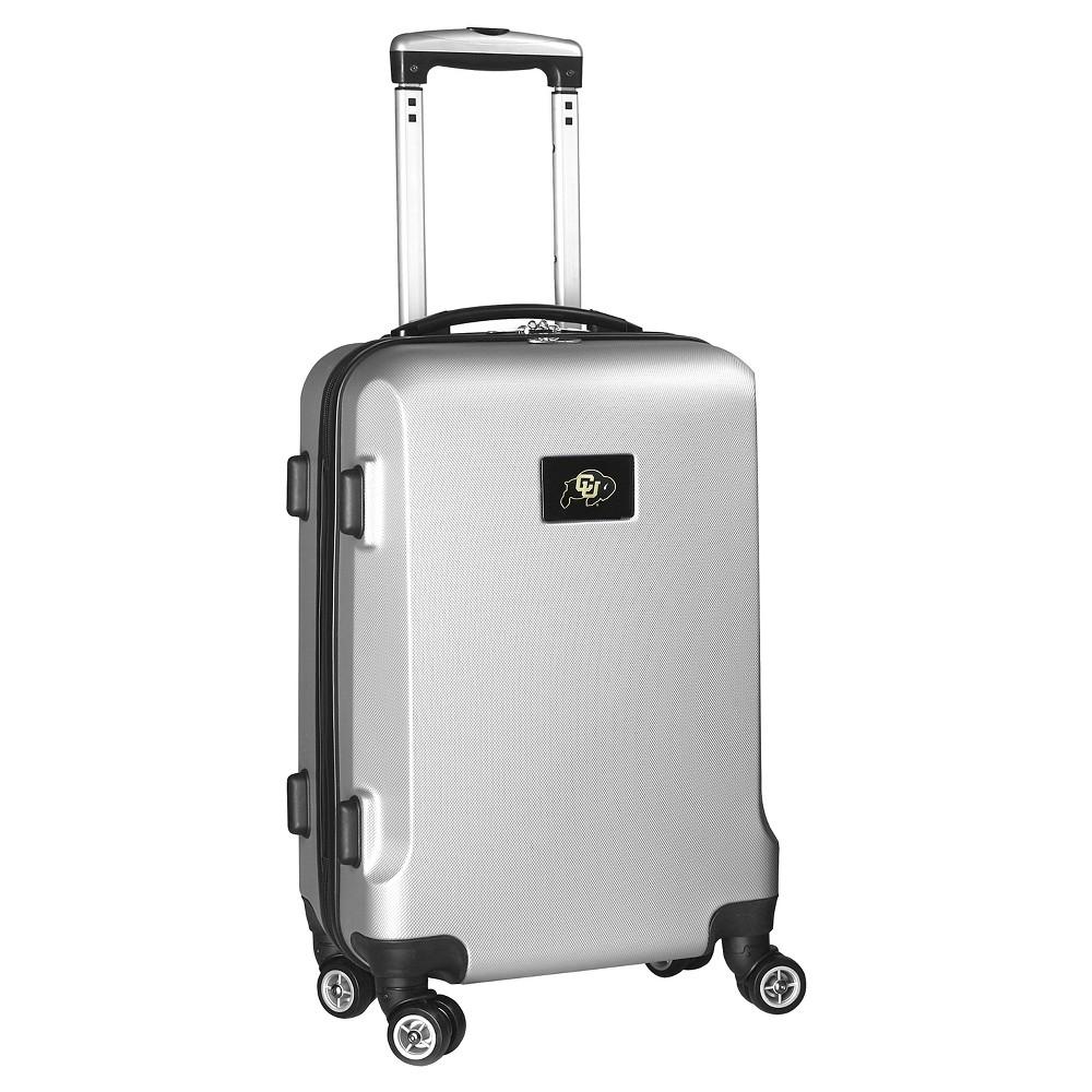 NCAA Colorado Buffaloes Silver Hardcase Spinner Carry On Suitcase