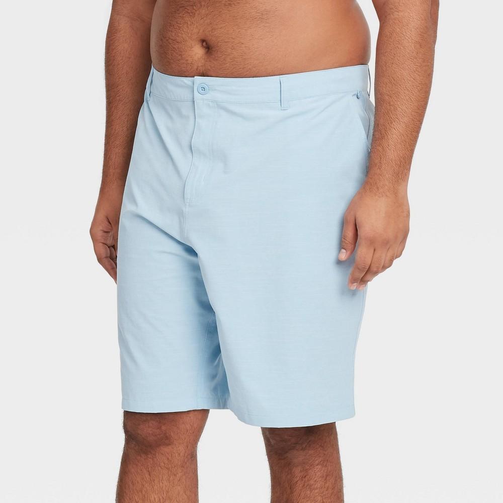 Men 39 S Big 38 Tall 10 5 34 Hybrid Swim Shorts Goodfellow 38 Co 8482 Polar Blue 46