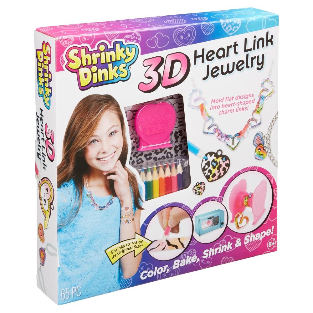 Shrinky Dinks 3D Heart Link Jewelry Kit