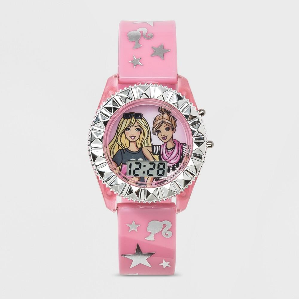 Girls' Barbie Flashing Lcd Watch - Pink