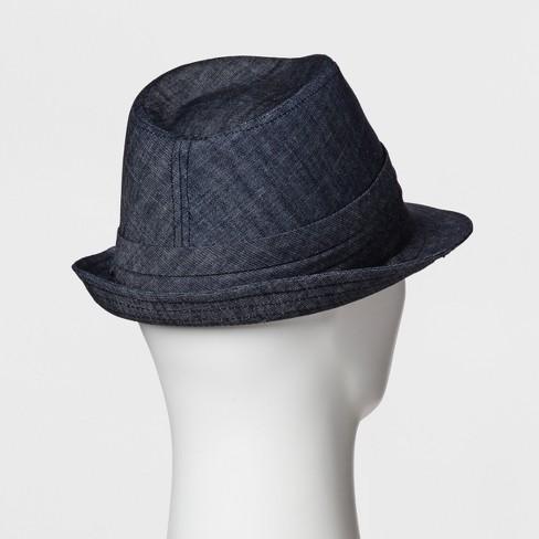 a81f5995b2b Men s Dark Chambray Fedora - Goodfellow   Co™ Blue   Target