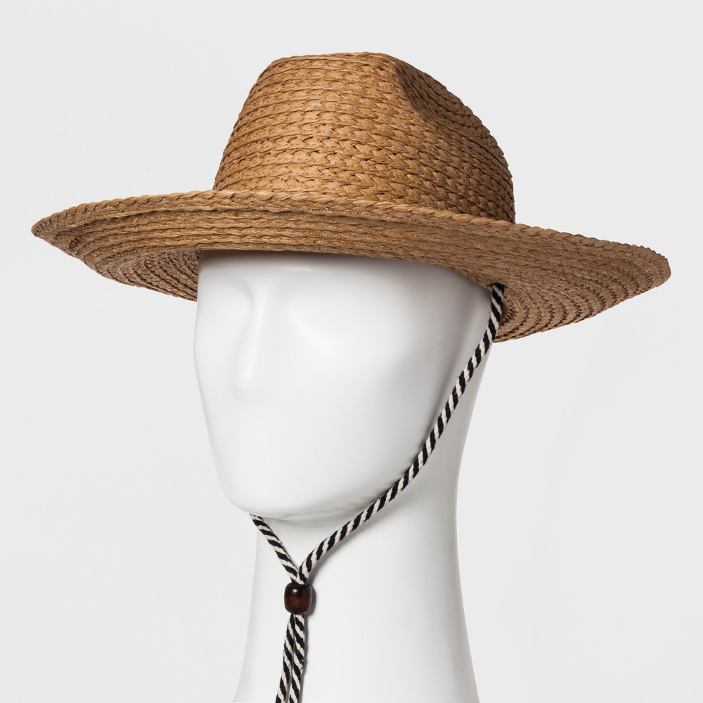 Men's Raffia Straw Panama Hats - Goodfellow & Co Tan L/XL, Natural
