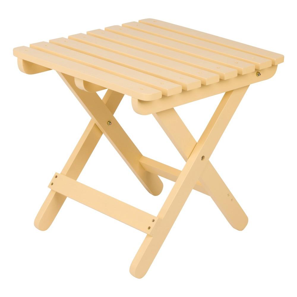 Adirondack Square Folding Table Yellow - Shine Company Inc.
