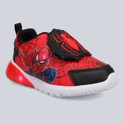 Toddler Boys' Marvel Spider-Man Athletic Apparel Sneakers - Red