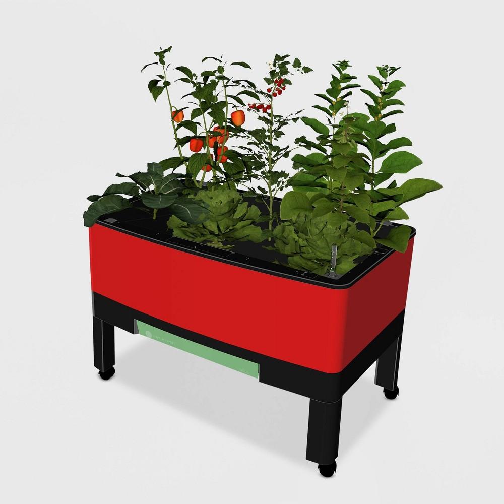 34 World Garden Rectangular Plastic Planter Red - New England Arbors