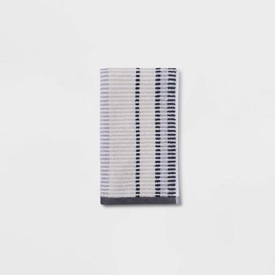 Stitch Striped Hand Towel Gray - Threshold™