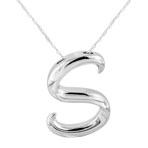 Women s Sterling Silver Initial Pendant   Target e3b23b84a