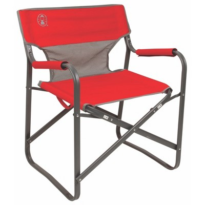 Coleman Outpost Breeze Folding Deck Chair - Red