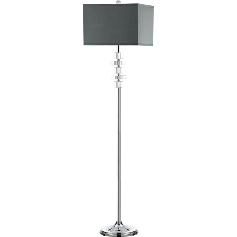 60 5 34 Times Square Floor Lamp Clear Chrome Includes Cfl Light Bulb Safavieh