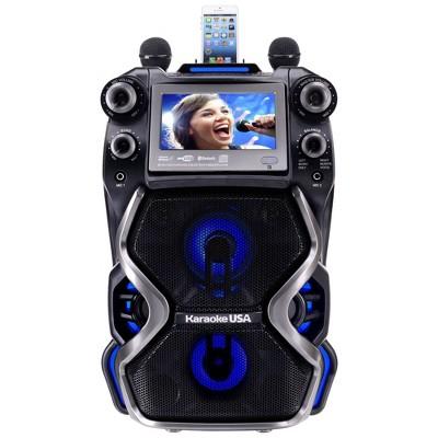 Karaoke USA Portable Professional Bluetooth CDG/MP3G Karaoke Machine (GF920)