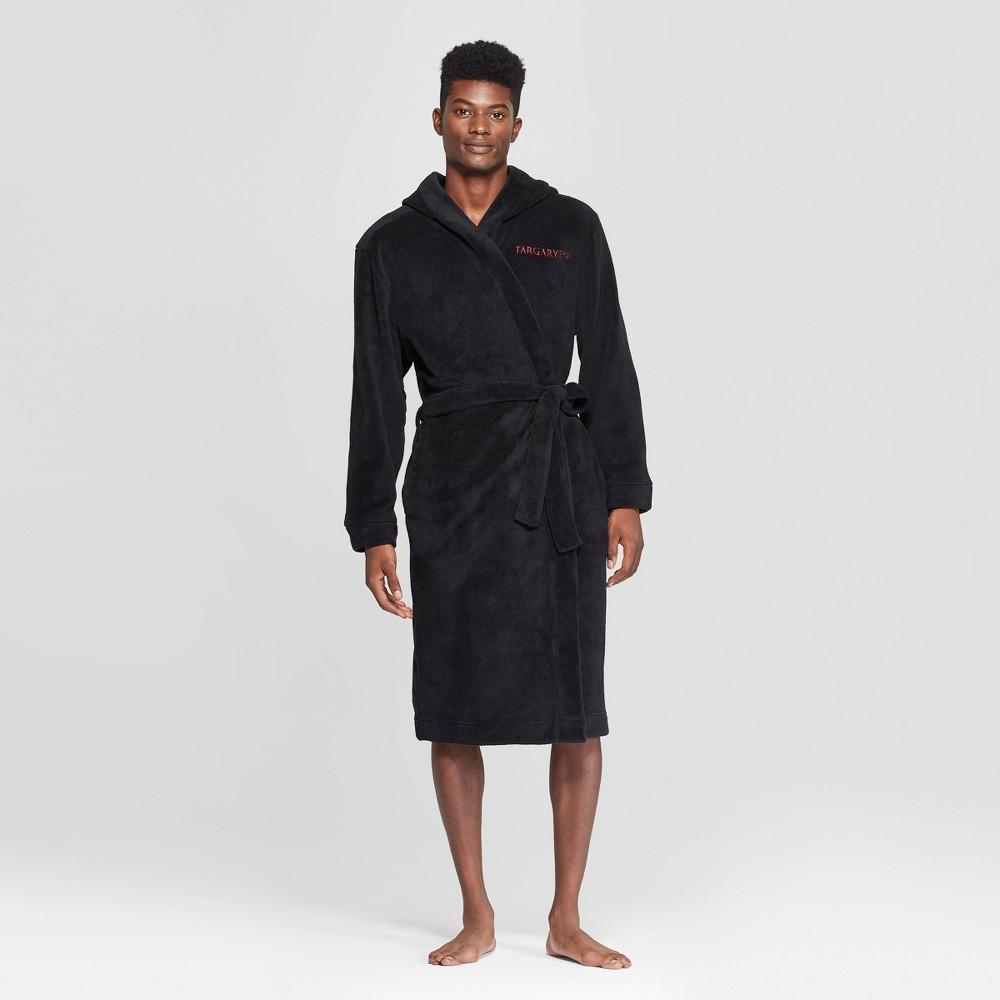 Men's Game of Thrones Targaryen Logo Robe - Black L/XL